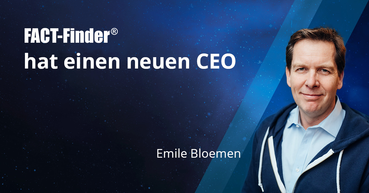 Neuer FACT-Finder CEO Emile Bloemen