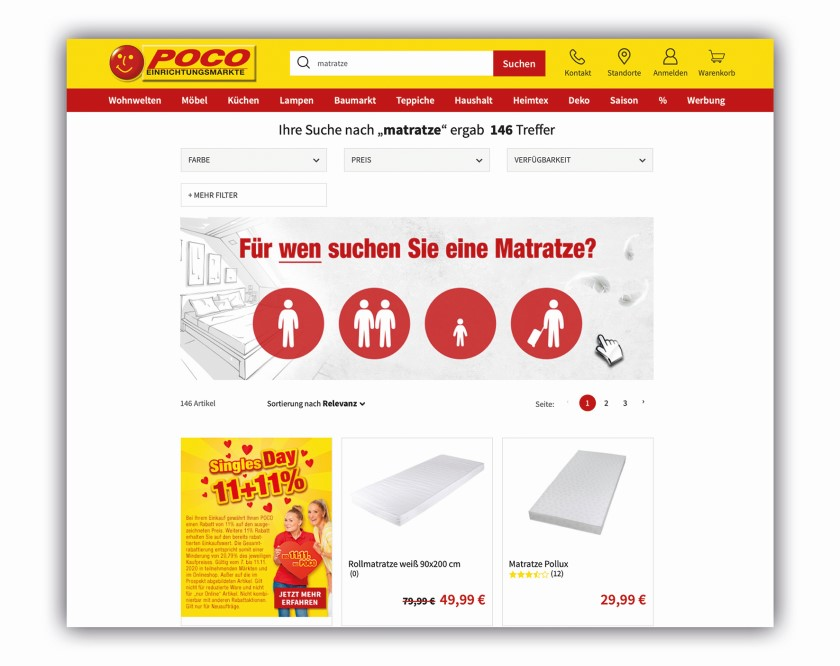 Shopsuche als Berater (Guided Selling)